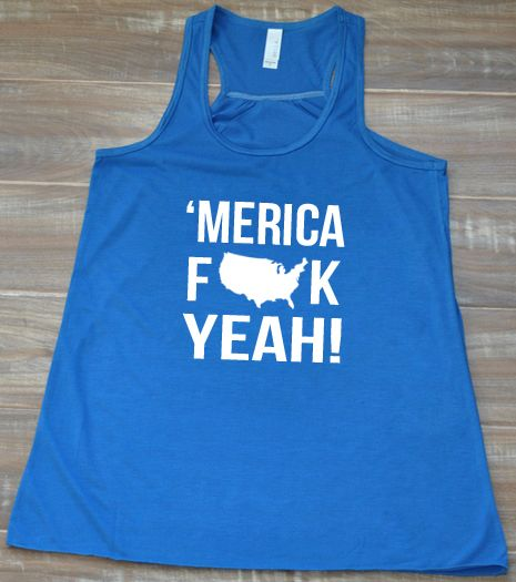 'Merica Tank Top - 4th of July Shirt - Memorial Day Tank