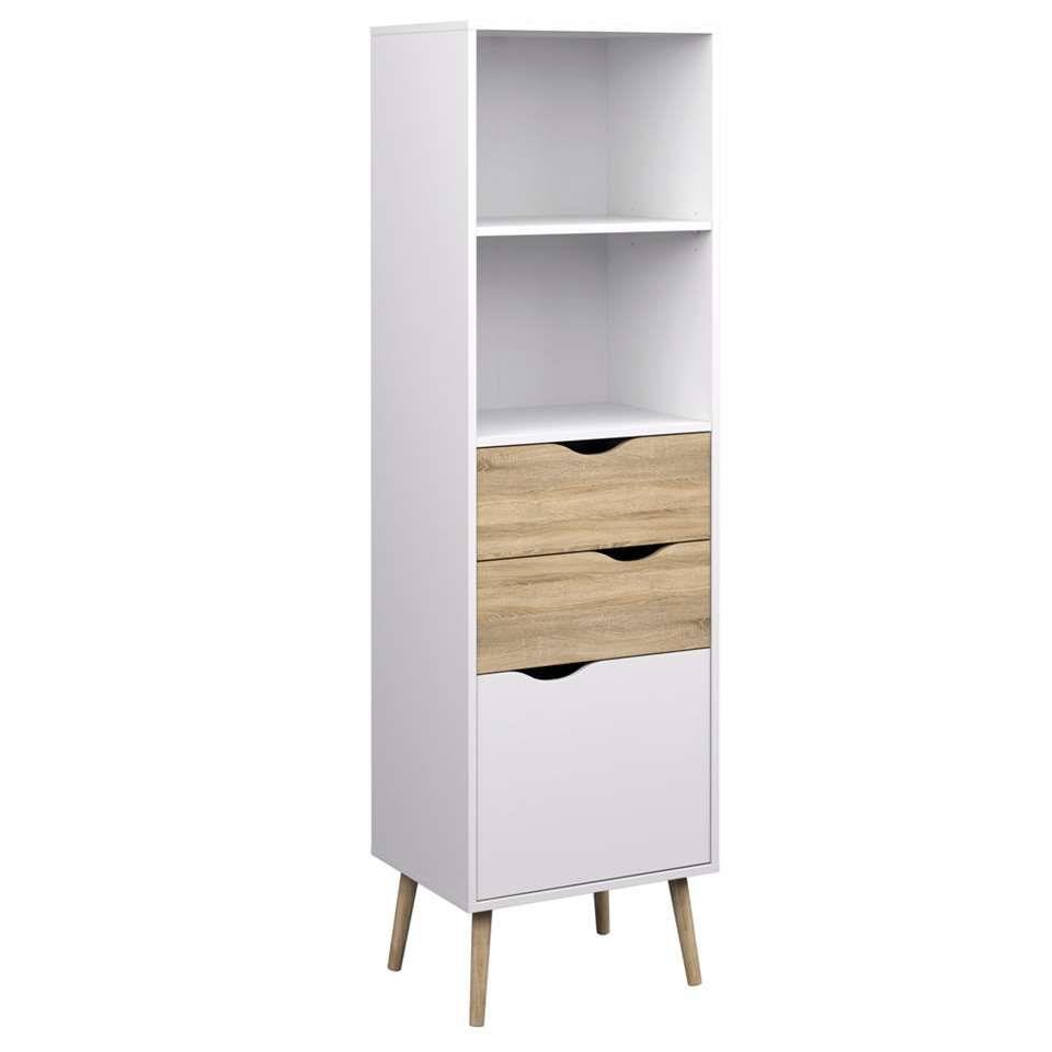 Boekenkast Delta - 50x39x171 cm | Leen Bakker - Slaapkamer Kim en ...