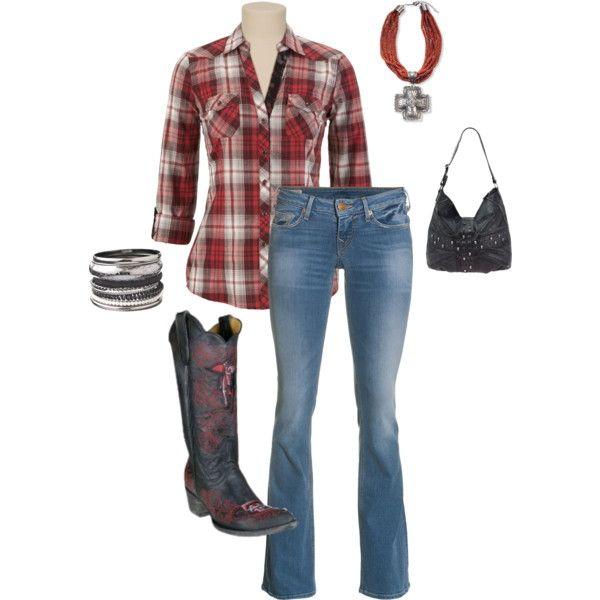 You have to rock cowboy boots to a country show and you for Country girl flannel shirts