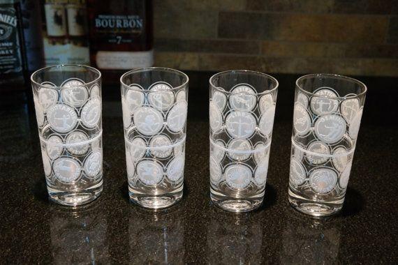 Vintage Zodiac Astrology Horoscope Retro Highball Cocktail Collins Glasses These Vintage Highball Glasses Have Z Mad Men Barware Bar Cart Decor Liquor Glasses