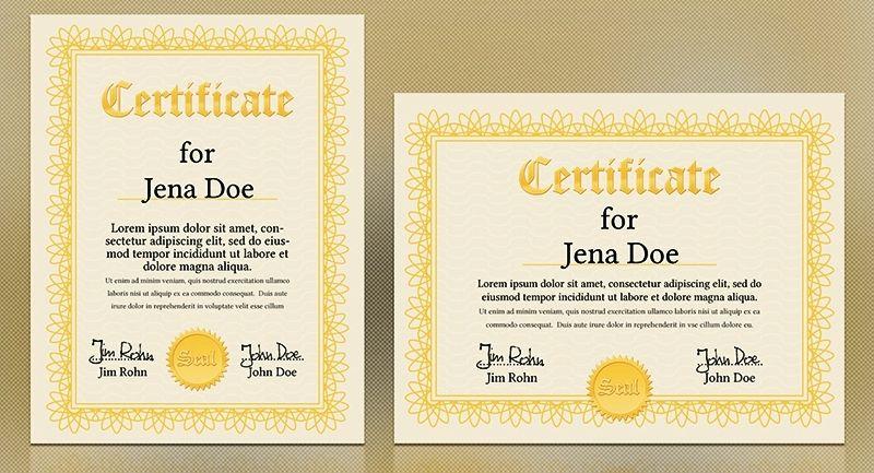 Contoh Desain Sertifikat Ijazah Penghargaan op;klj; Certificate