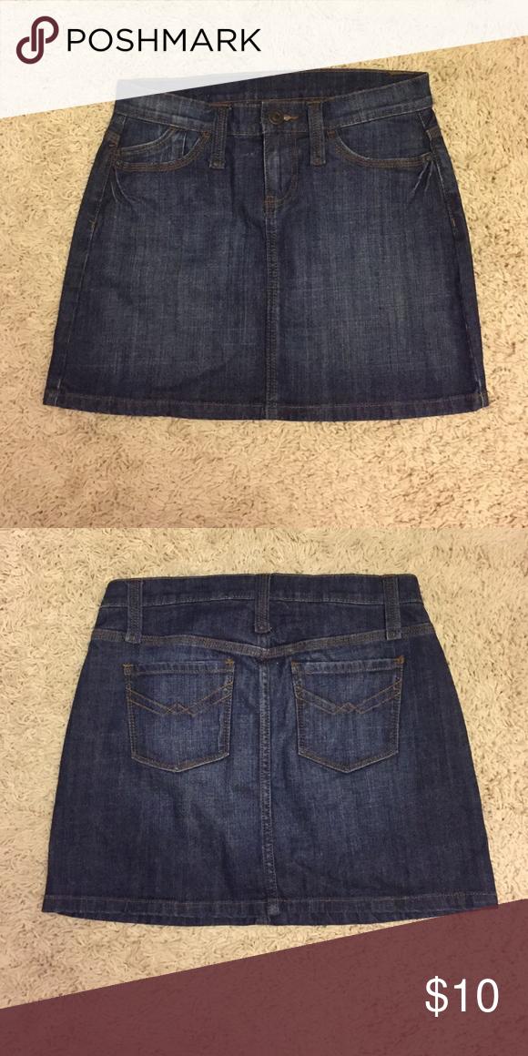 Gap Jean Skirt Size 1 Gap Jean Skirt Size 1. Excellent condition! GAP Skirts Mini