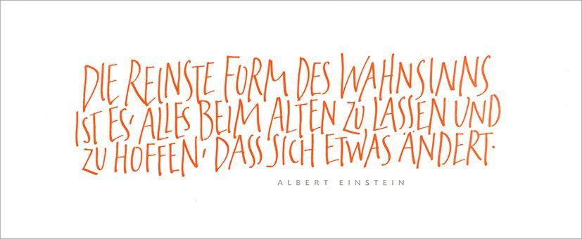 Zitat /// Einstein /// Handlettering und Buchdruck