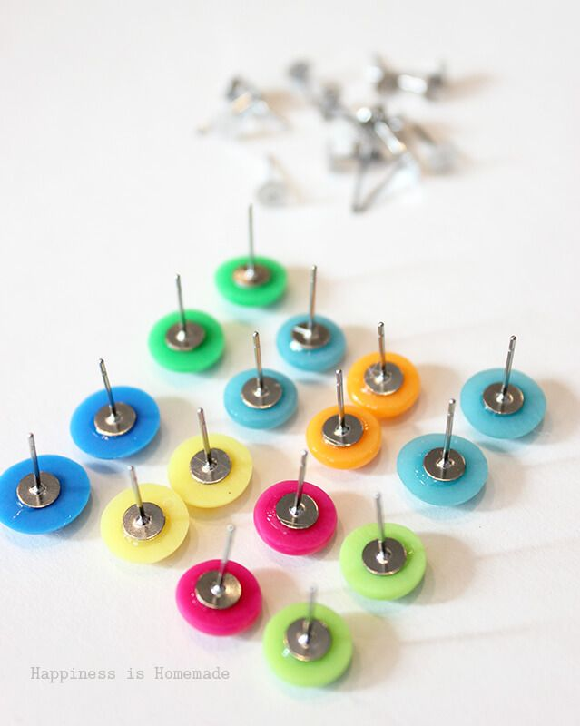 Making Candy Button Earrings is Fast Easy and Cheap | sihouette ...