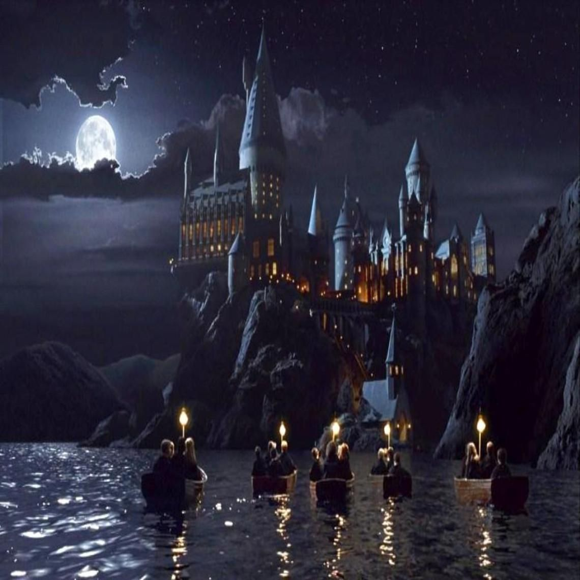 Hogwarts castle phone wallpapers harry potter school - Hogwarts at night wallpaper ...
