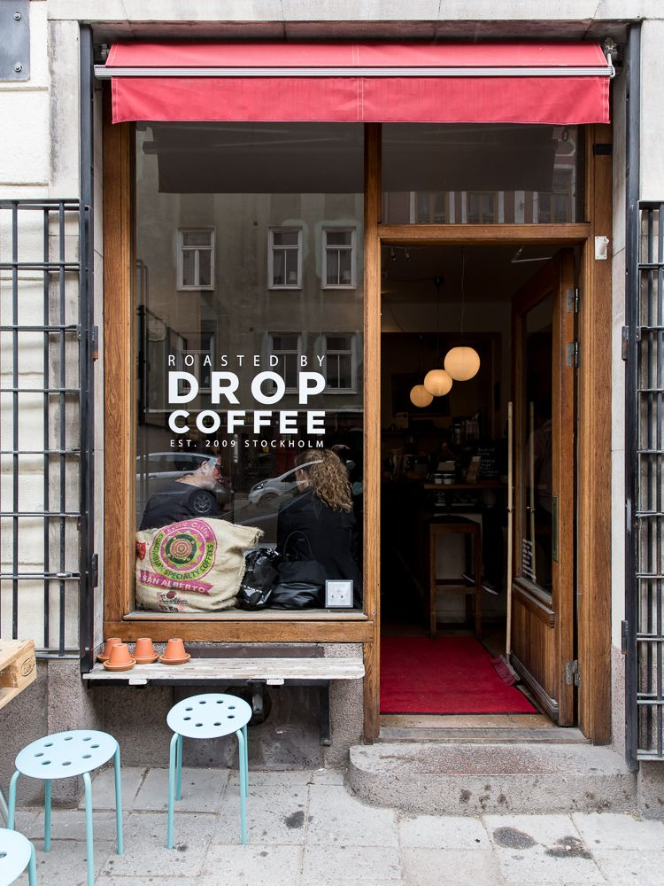 Lingered Upon Drop Coffee Stockholm Small Coffee Shop Coffee Shop Design Cafe Shop