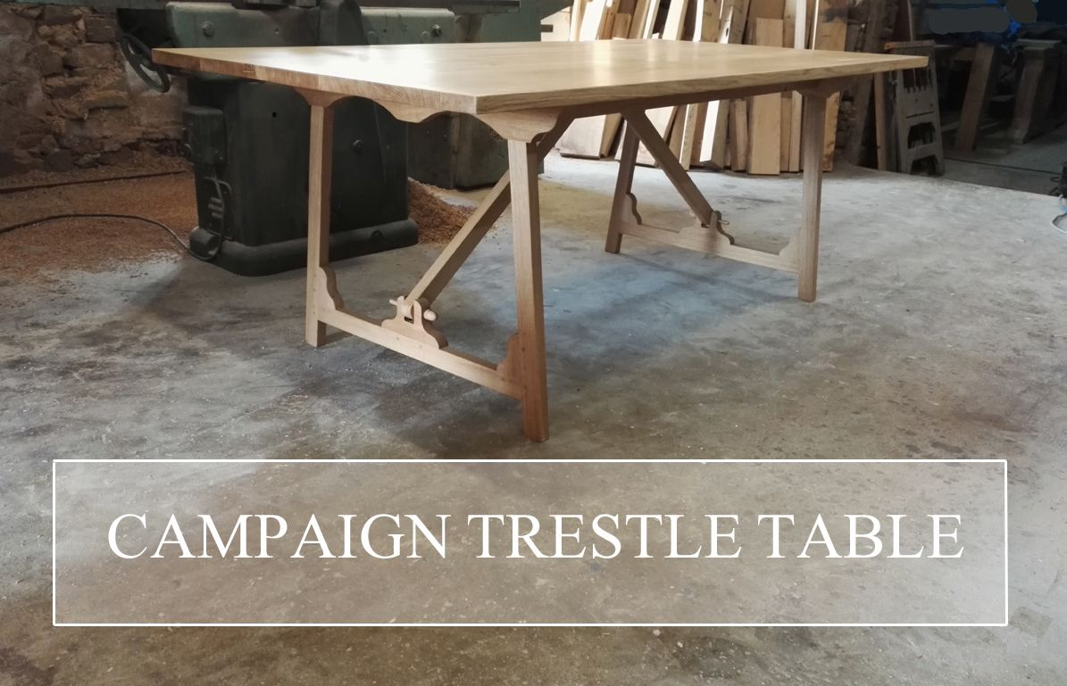 Campaign Trestle Table In 2020 Modern Rustic Dining Table Trestle Table Table