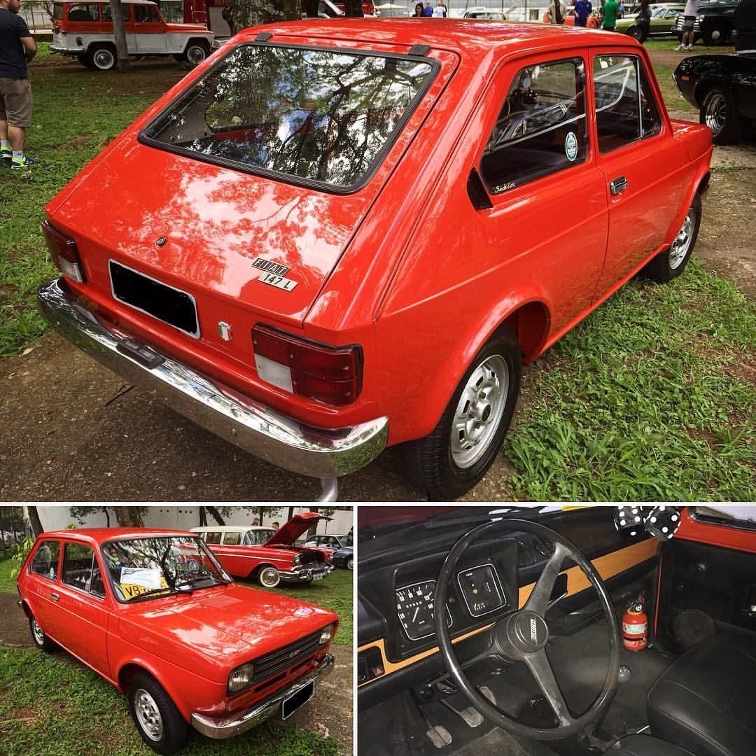 Fiat 147 L 1977 Placa Preta Do Clube Do Carro Antigo Do