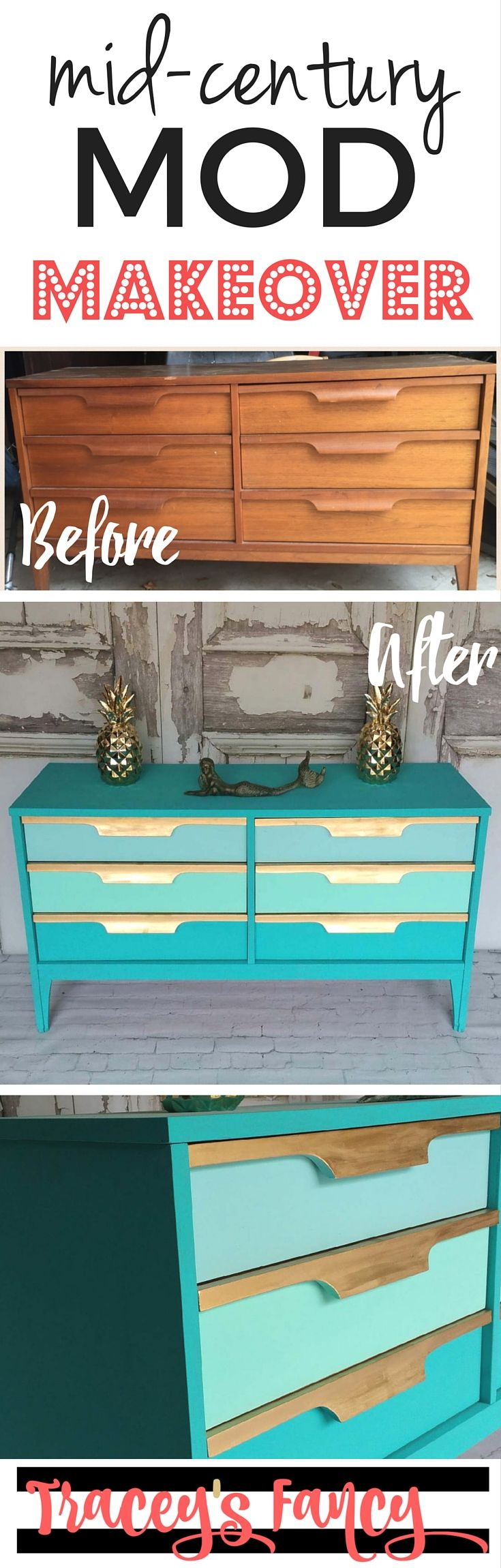 Pin it: Teal Dresser Before-After