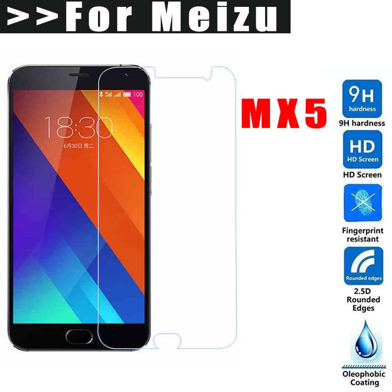9H HD Tempered glass For Meizu MX5 Screen Protector for meizu mx5 Explosion protection Toughened Protective Film for mx5