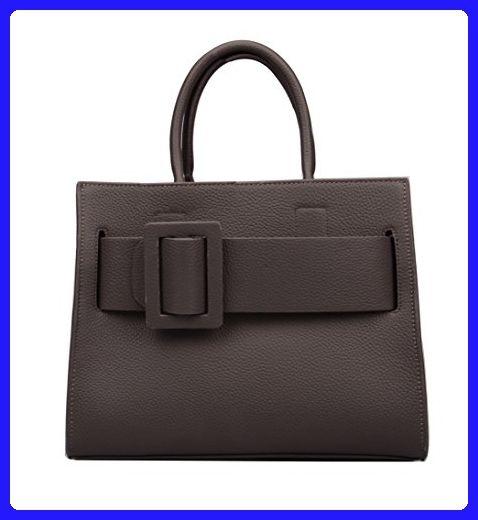 e97a2724ce Ainifeel Women s Buckle Genuine Leather Purse Top handle Handbag Shoulder  Bag (Grey) - Shoulder bags ( Amazon Partner-Link)