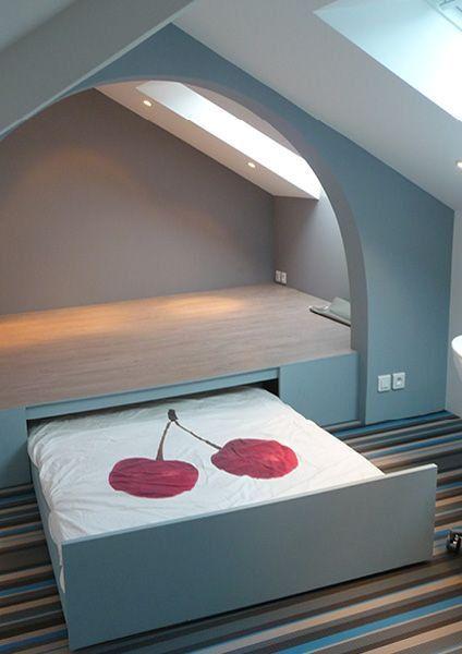 bett dachschr ge pinterest diy. Black Bedroom Furniture Sets. Home Design Ideas
