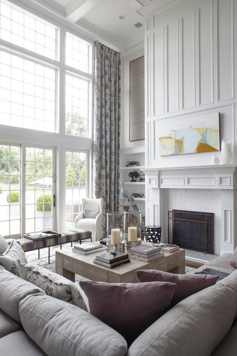 Living Room Windows Design: 60+ Incridible Tall Curtains Ideas For Your Home Living