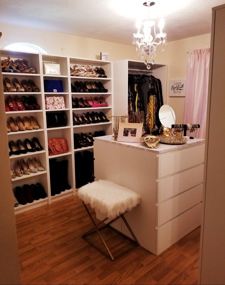 Spare Room Turned Into Closet Using Ikea Billy Pax And Brimnes