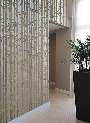 Cutting Edge Stencils - Bamboo Allover Stencil - Do My Bedroom Wall or Two This Way.