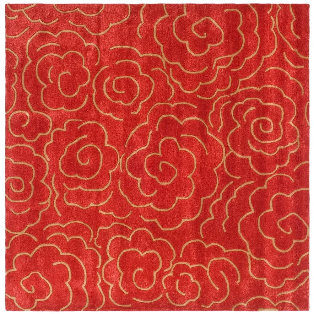 Safavieh Soho Red 8 Ft X Square Area Rug Soh812a 8sq The Home Depot