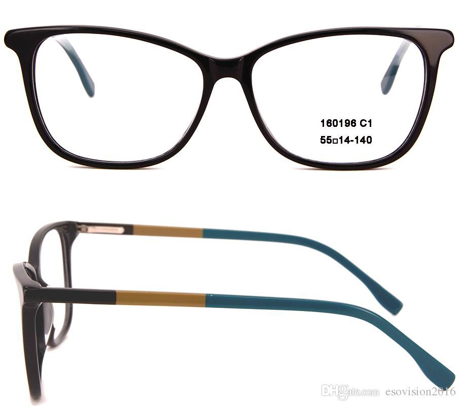 d127493e0e New Arrival 2017 Fashion Women Men Oval Eyeglasses Frames Designer Light  Frame Full Rim Acetate Optical