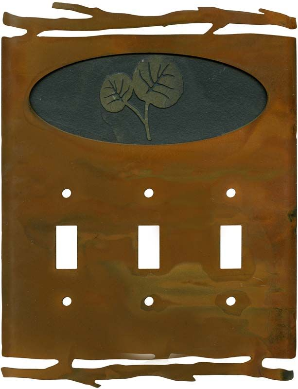 Rustic Leaves Wall Plates Outlet Covers