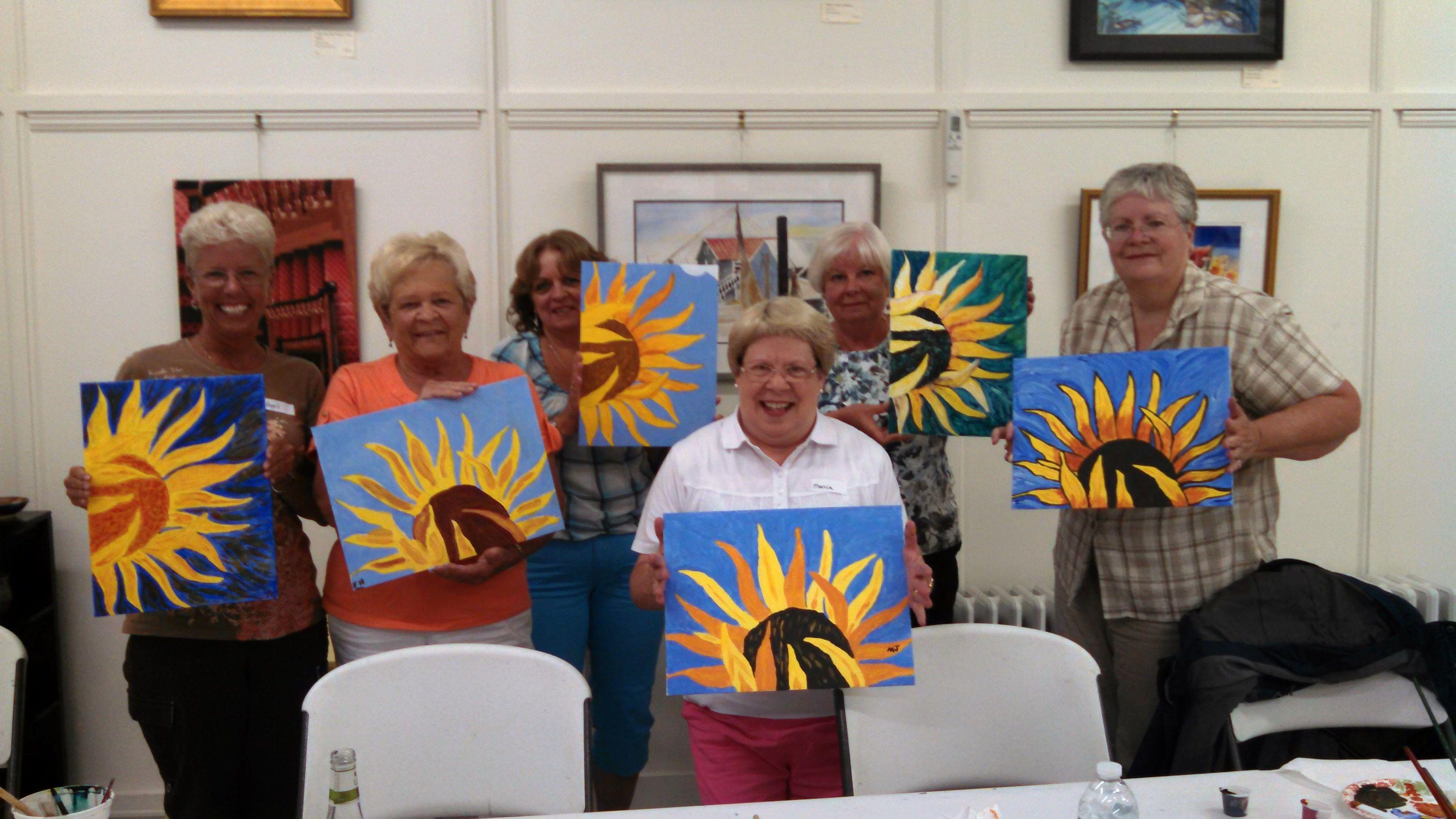 Blush & Brush Sunflower - Bay School Community Arts Center