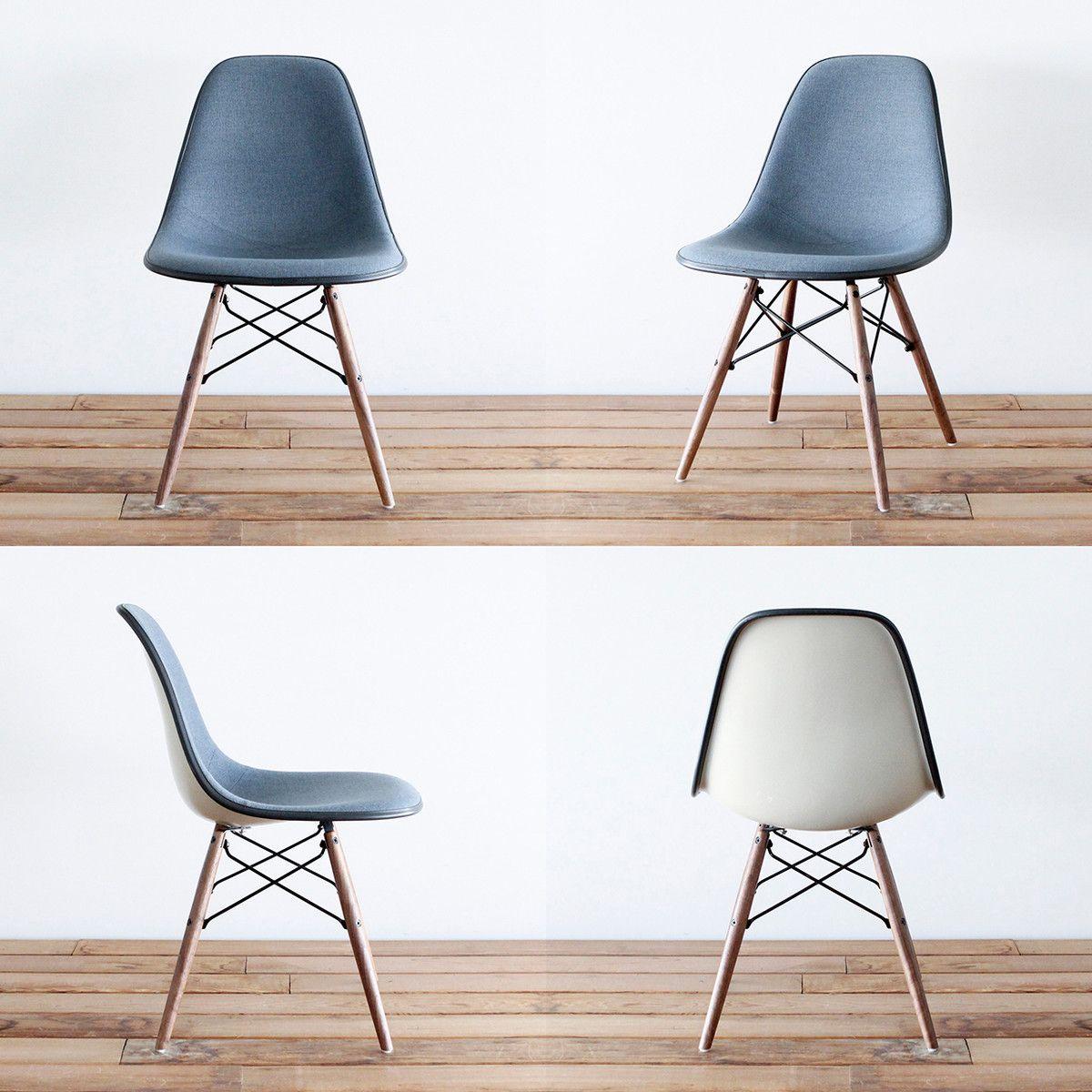 reupholstered vintage Eames DSW Wohnen