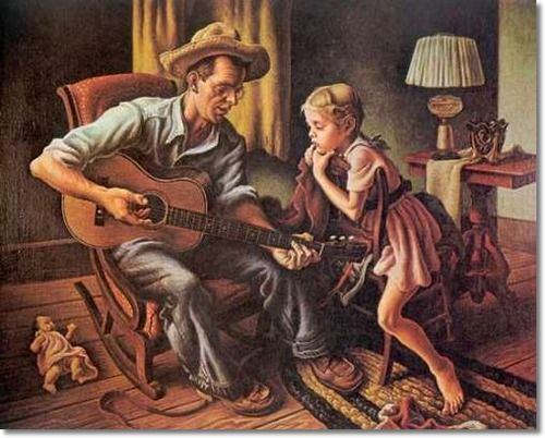 Thomas Hart Benton - The Music Lesson - 1943