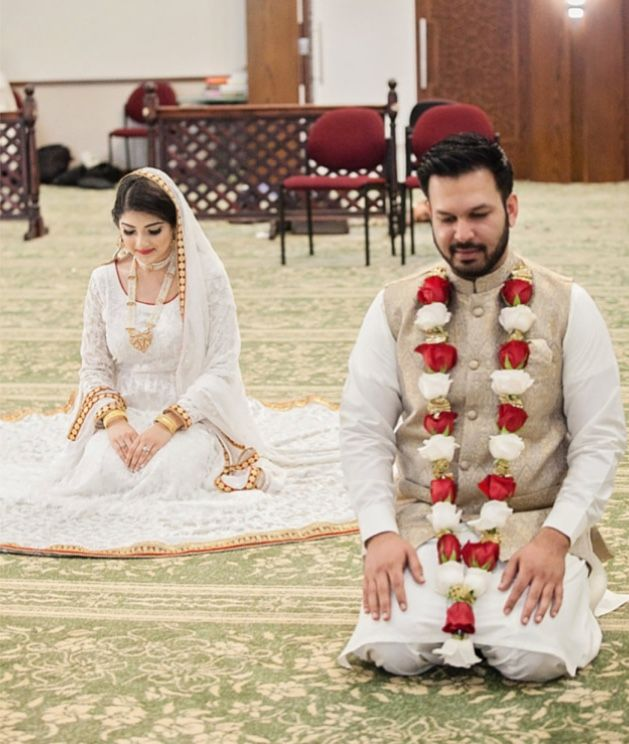 Pin By Jahan A Aslam On All About Weddings Cute Muslim Couples Nikah Dress Pakistani Bridal Dresses