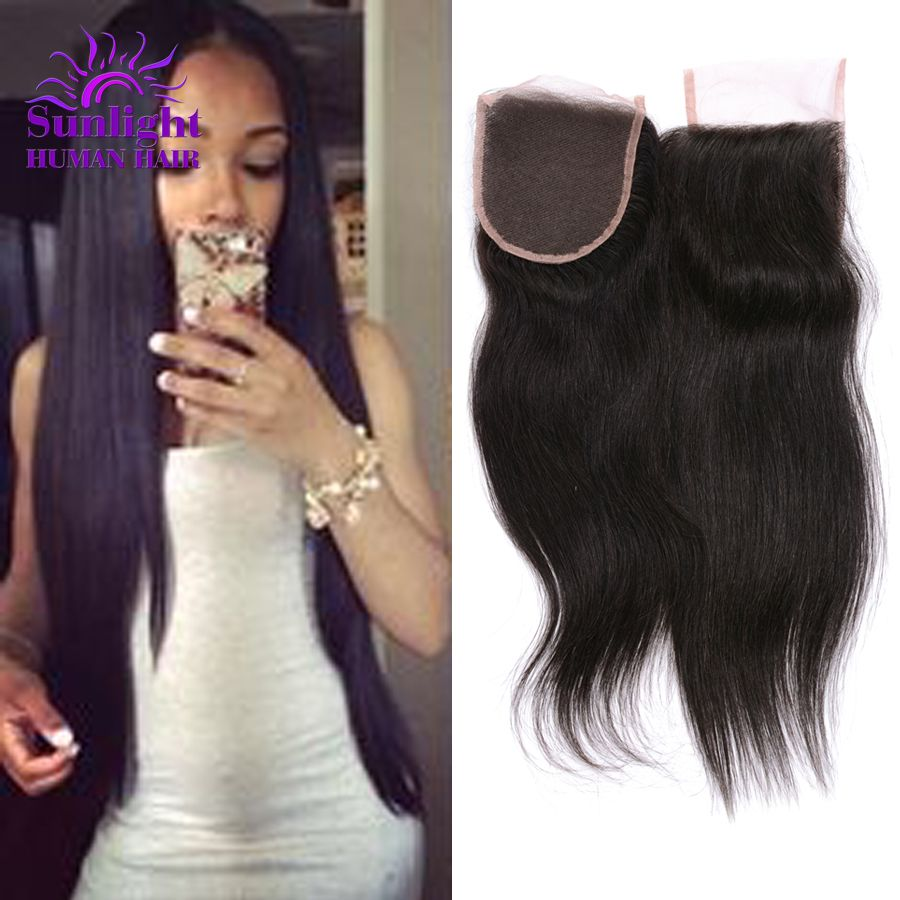 Where to buy hair closures - Malaysian Virgin Hair Closure 4 X4 Malaysian Straight Lace Closure Only 1 Piece Cheap