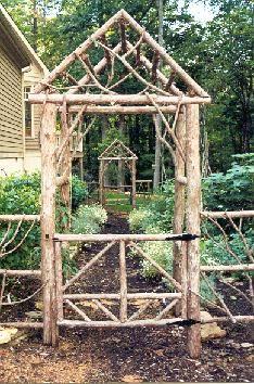Rustic Garden Structures Arbors Garden Gate Design Garden