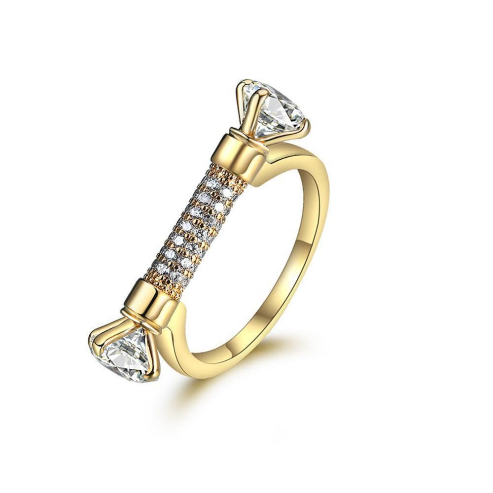 Female gold ring fashion u gold filled jewelry vintage wedding rings