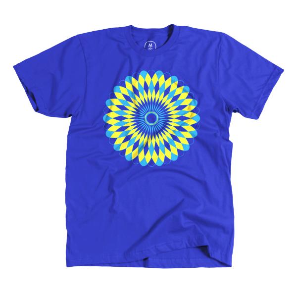 Cultiva Studio: Spirograph inspired T-shirt design.