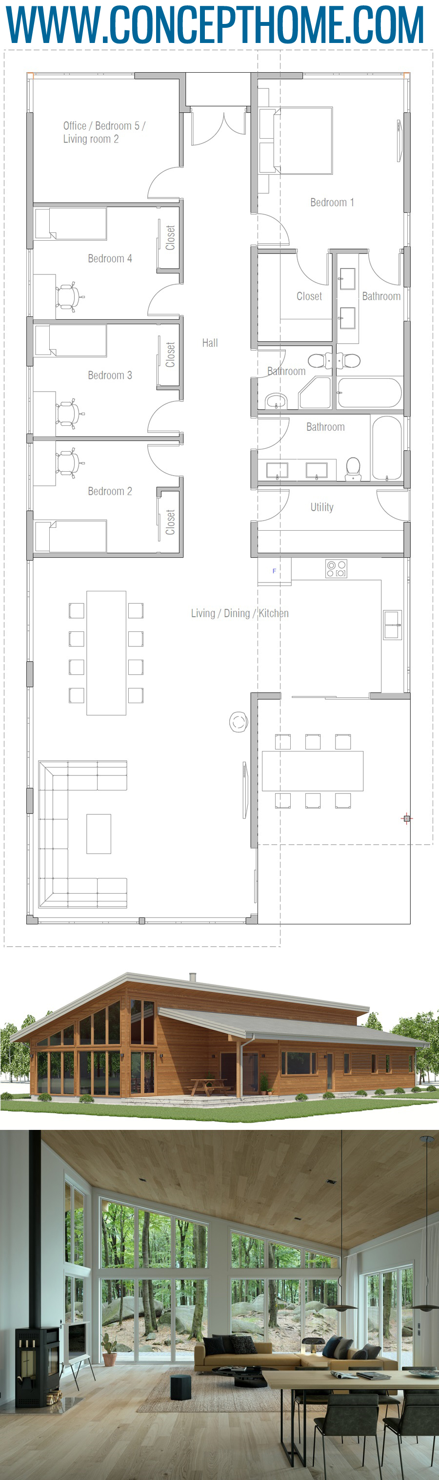 Floor Plan Ch592 Industrial House Plans New House Plans Building A House