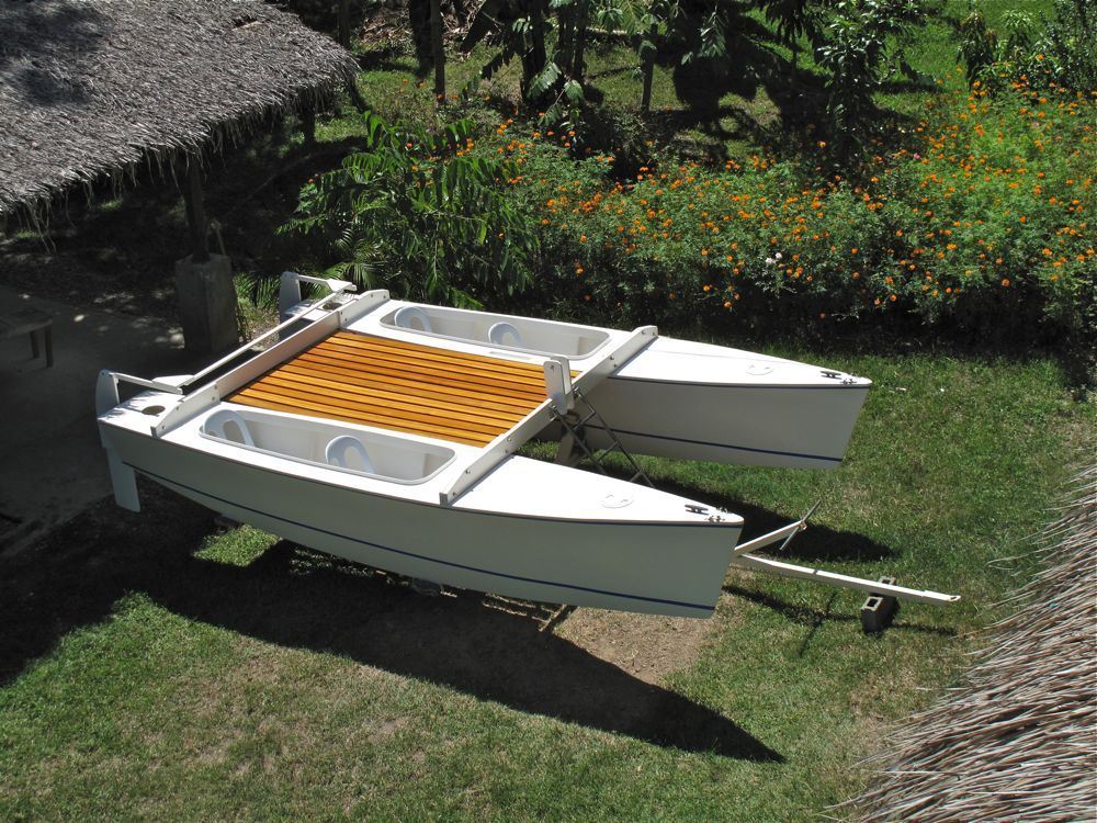 My Home Made Catamaran Before Fitting The Mast And Sails Making