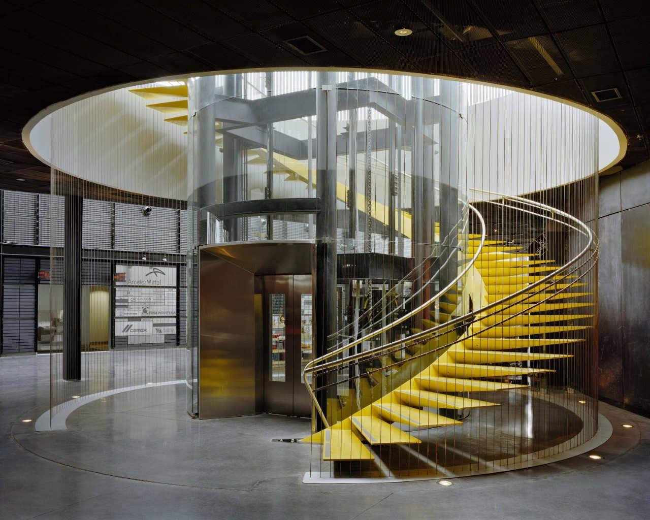 Romantik moderne treppe wendeltreppen innenarchitektur treppen architektur berühmte architektur design showroom architektur von