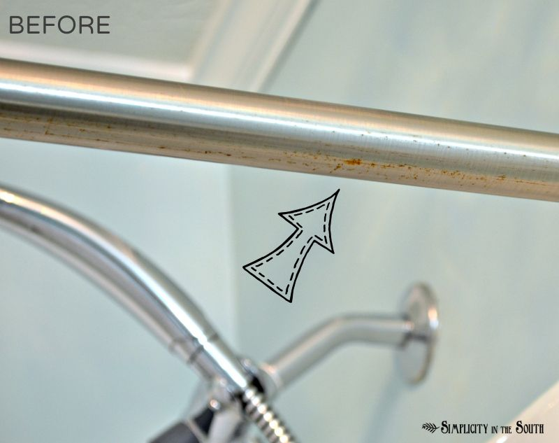 How to clean rust off a chrome shower rod | cleaning solutions ...