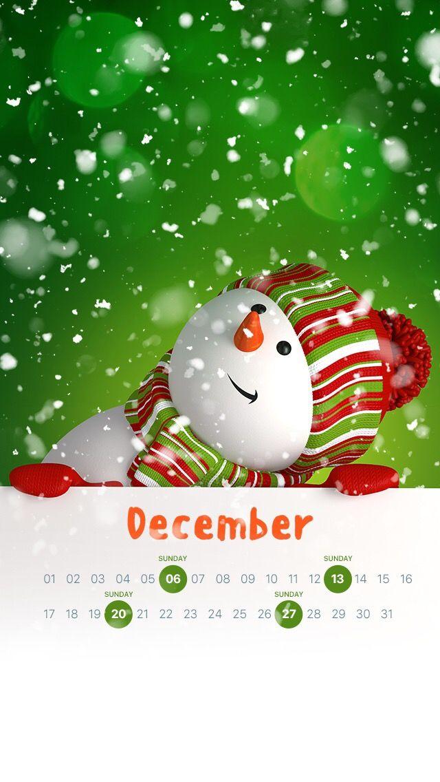 Calendar Wallpaper Lock Screen December Holiday Design Patterns Christmas Holidays Vacation