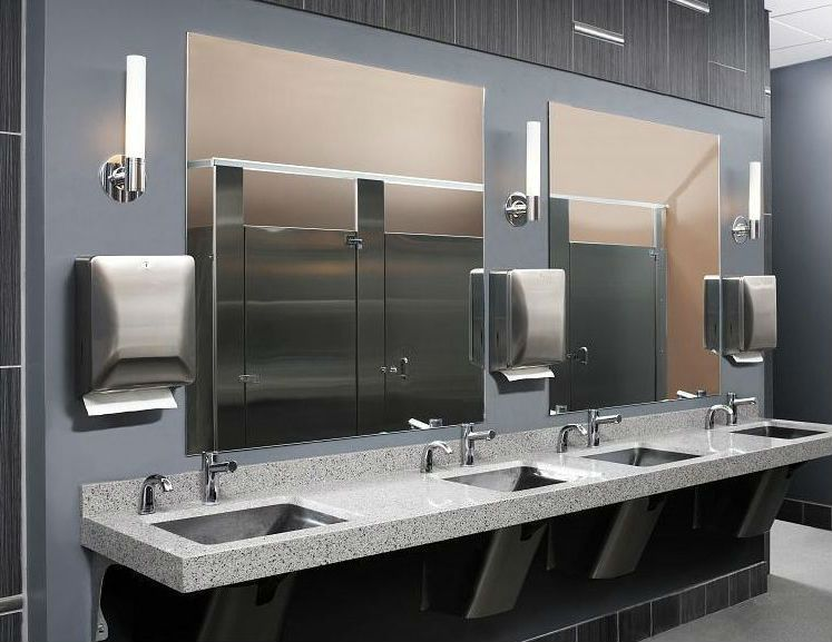 Bathroom Sinks Commercial stainless steel bathroom sinks for commercial areas | home ideas