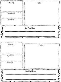 New Vocabulary Graphic Organizer   Vocabulary graphic ...
