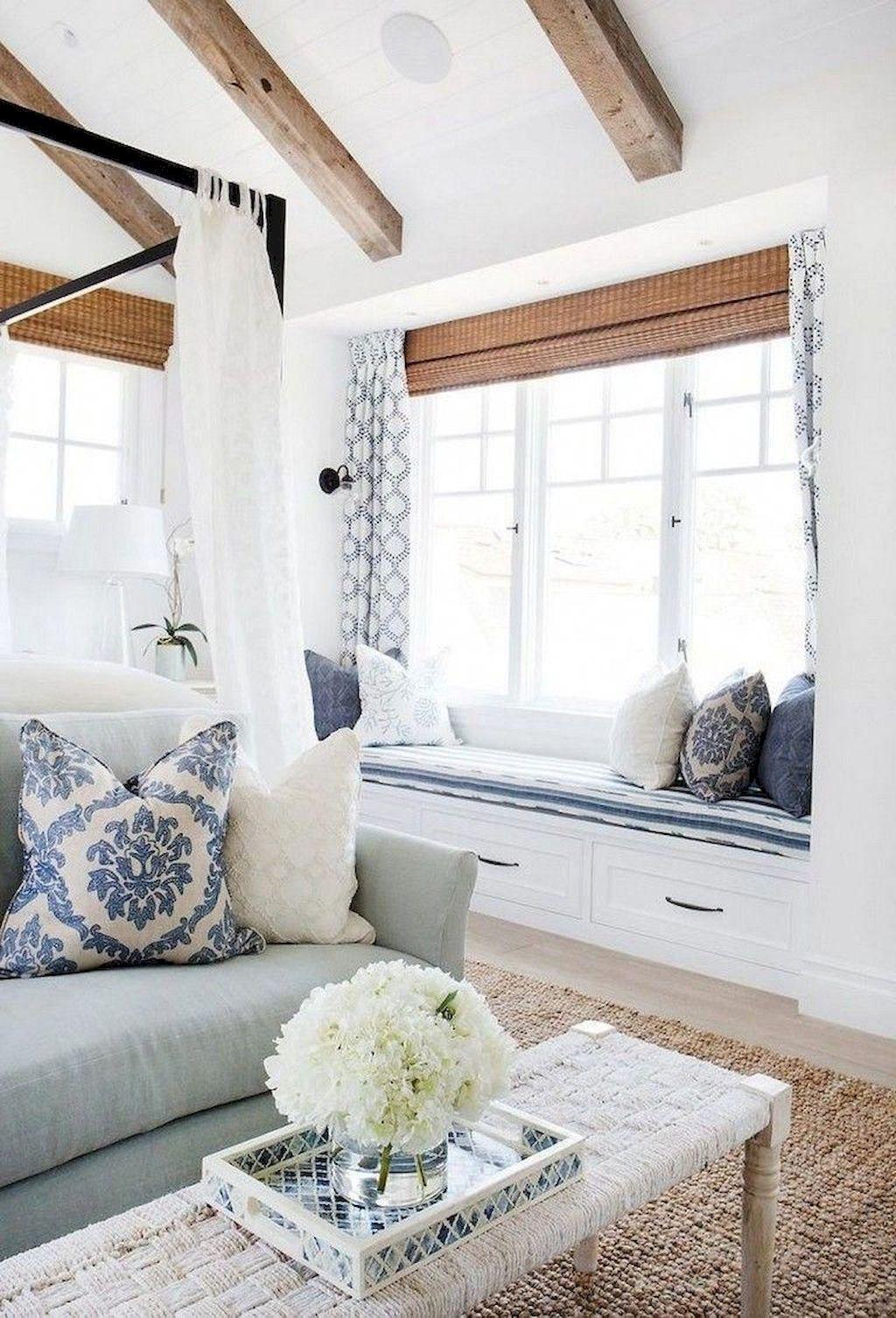 85 Best Modern Farmhouse Living Room Curtains Decor Ideas With
