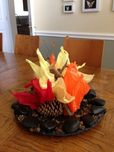 Campfire Centerpiece Had To Make 6 Of These For A Work