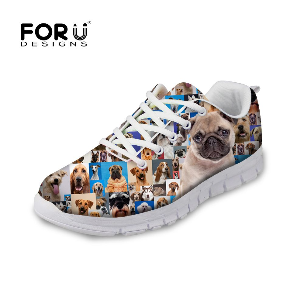 Fashion Mens Casual Shoes Animals Print Running Sneakers Sport Athletic Shoes
