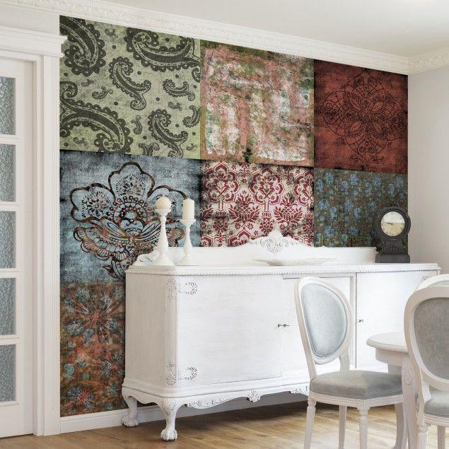 Vliestapete Premium - Old Patterns - Fototapete Quadrat #Muster ...
