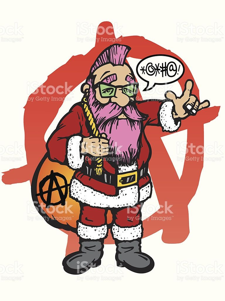Punk Rock Santa Claus Illustration Id167926173 768 1024 Santa Claus Vector Vector Art Illustration Illustration