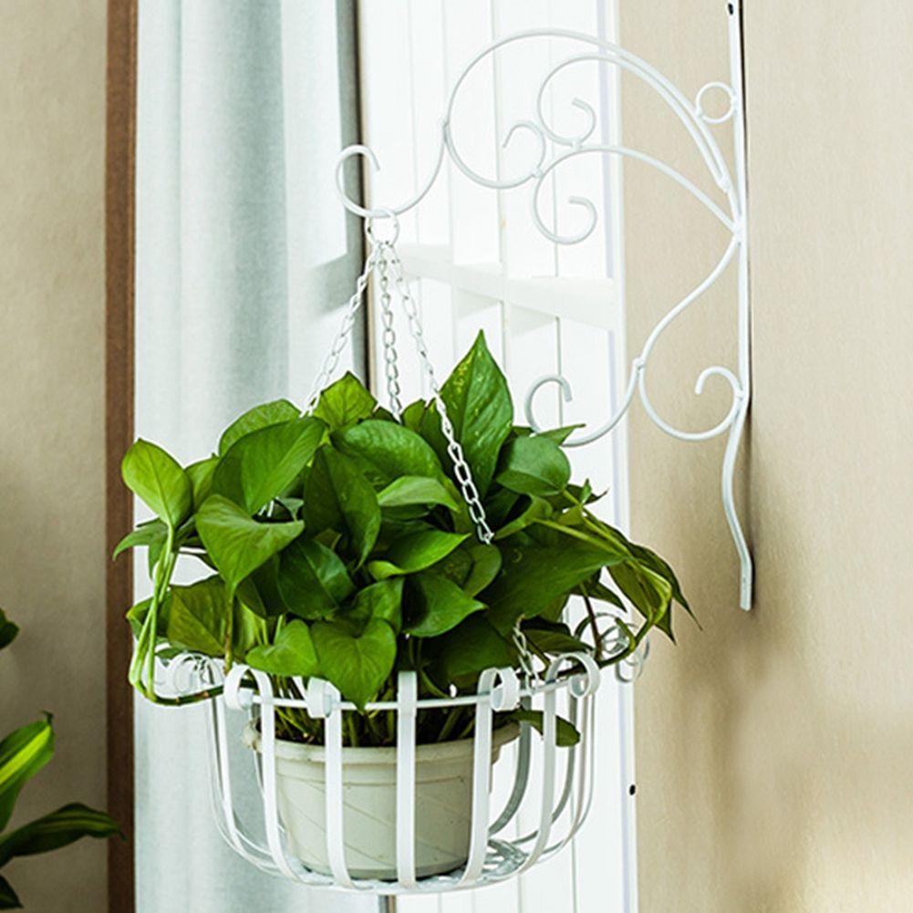 Aihome bracketbasket iron wall hanging flower shelf set