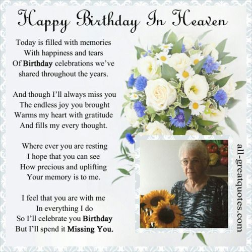 Birthday Wishes To Deceased Grandmother Google Search