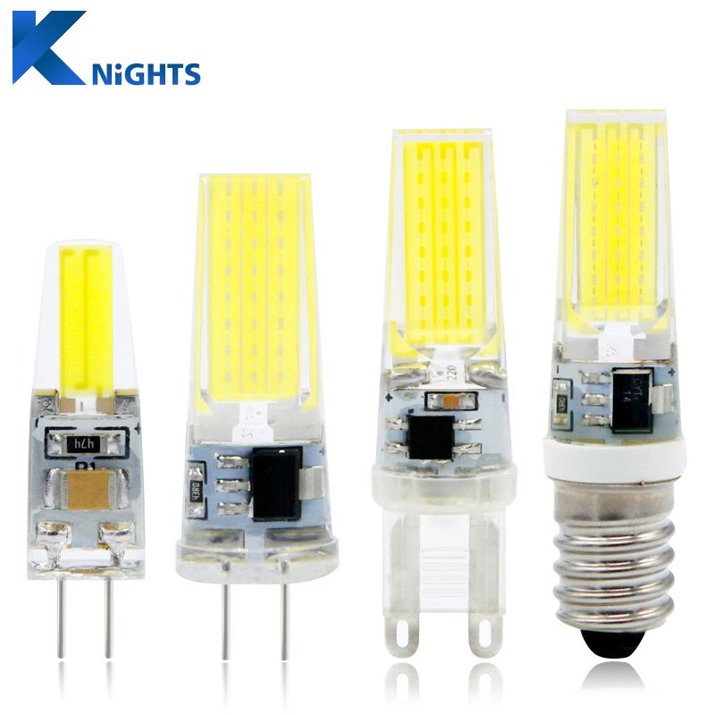 Ynl Mini Led Lamp G4 G9 E14 Ac Dc 12 V 220 V 3 Wat 6 Wat 9 Wat Cob Led G4 G9 Bulb Dimmable 360 Chum Tia Goc Thay Thế Halogen đen