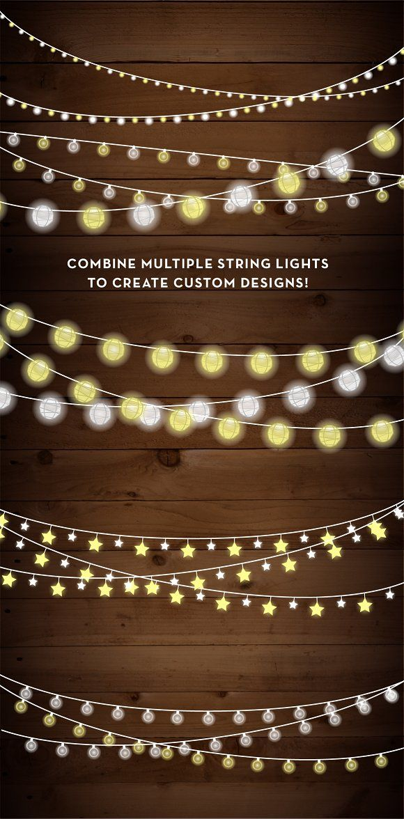 String Lights With Clips String Lights Clip Art Set  Png Ai  Pinterest  Clip Art And Filing