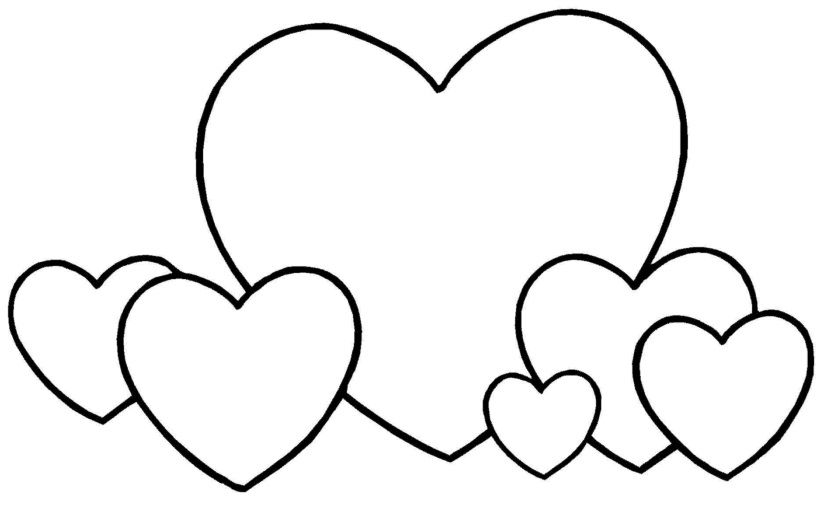 Hearts Shape Coloring Pages Heart Coloring Pages Coloring Pages