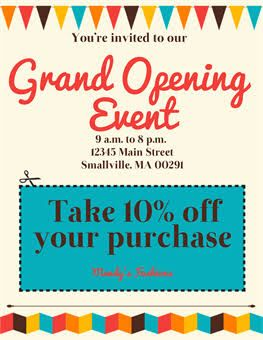 Grand OpeningOn Sale Poster   Display Ideas    Sale