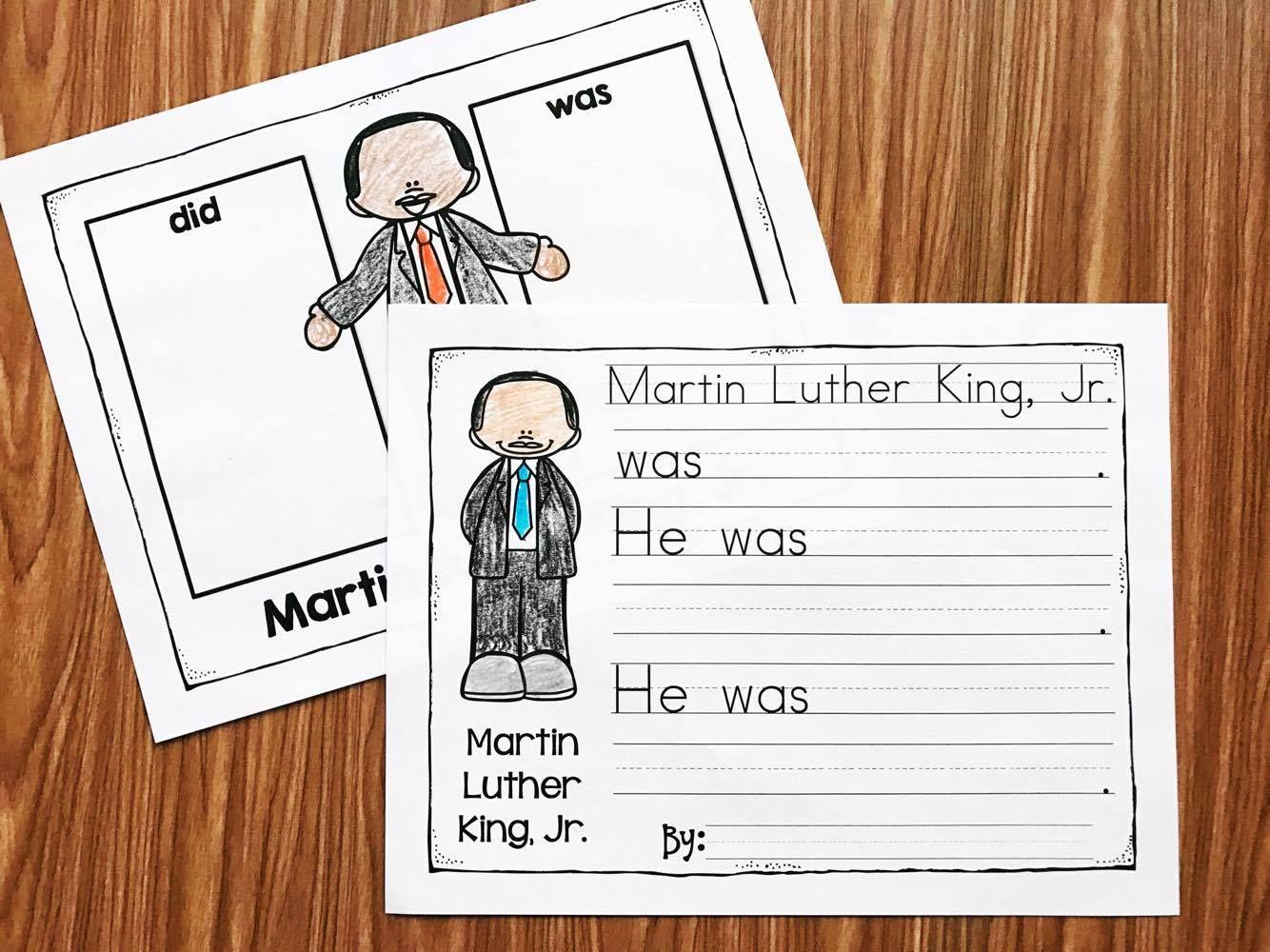 Printable Martin Luther King Worksheet For Preschoolers