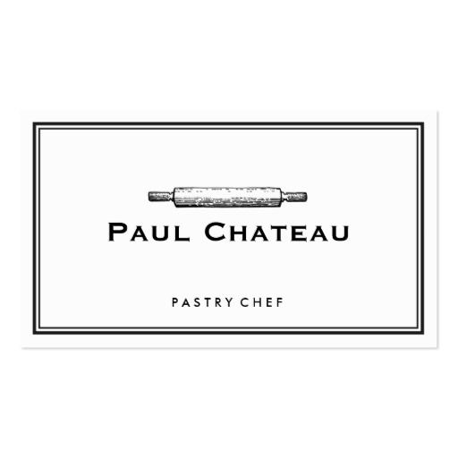 Bakery Pastry Chef Rolling Pin Baker Logo White Business Card - baker pastry chef sample resume
